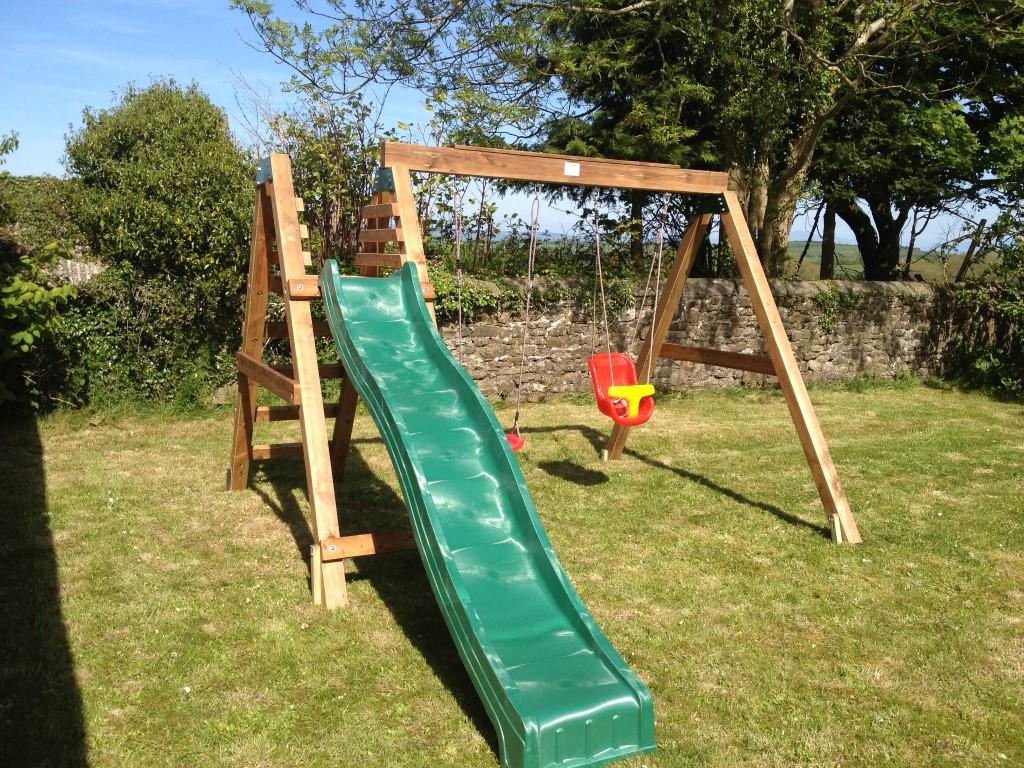 Heavy Duty Deacon Swing and Slide Set (2)